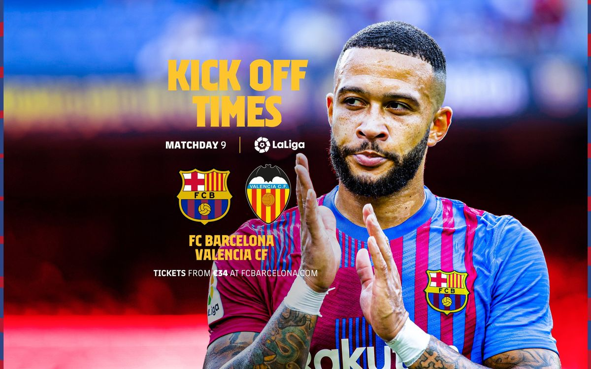 When and where to watch FC Barcelona v Valencia