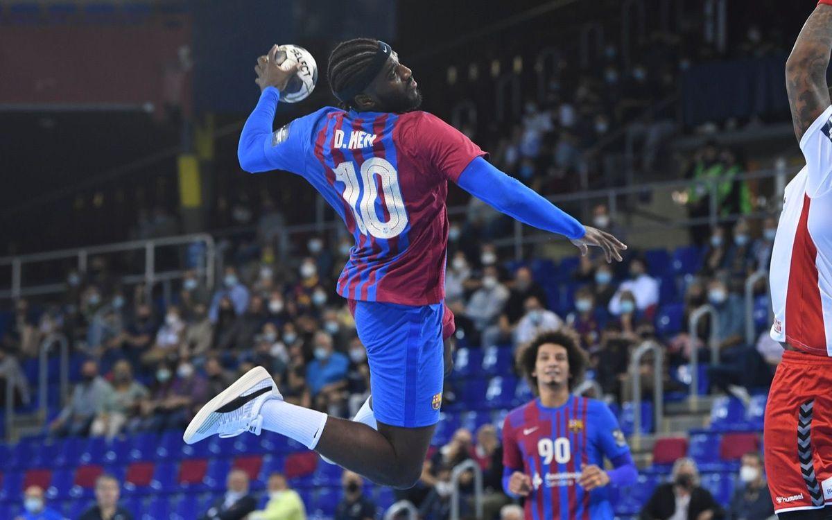 Barça 36-32 Dynamo Bucharest: Joy at the Palau