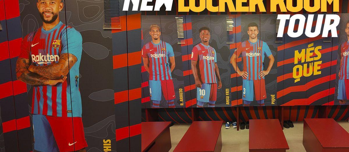 New-look lockers at Camp Nou