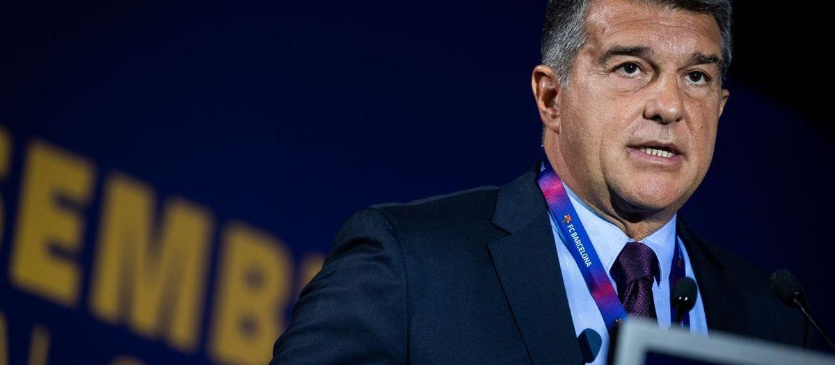 """Laporta: """"Si la Asamblea aprueba la financiación del Espai Barça, celebraremos un referéndum para ratificar la decisión"""""""