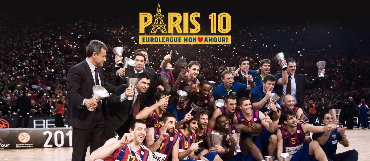 Homenaje a los ganadores de la Euroliga de París 2010