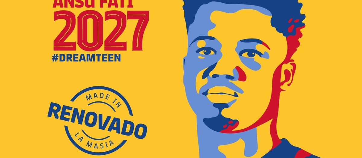 Ansu Fati: azulgrana hasta 2027