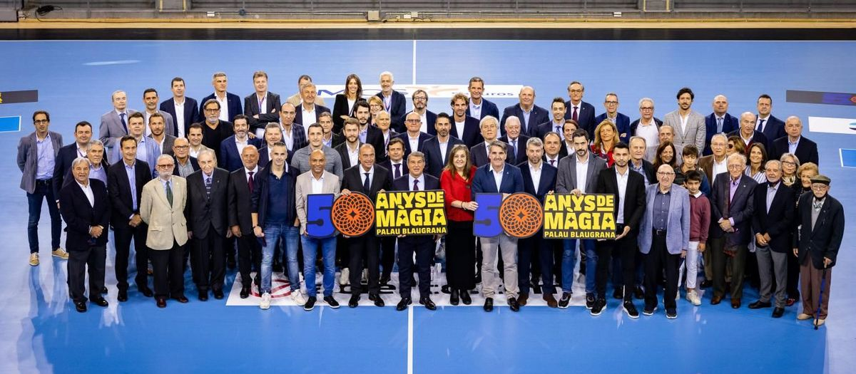 FC Barcelona commemorates 50 years of Palau Blaugrana with a touching ceremony