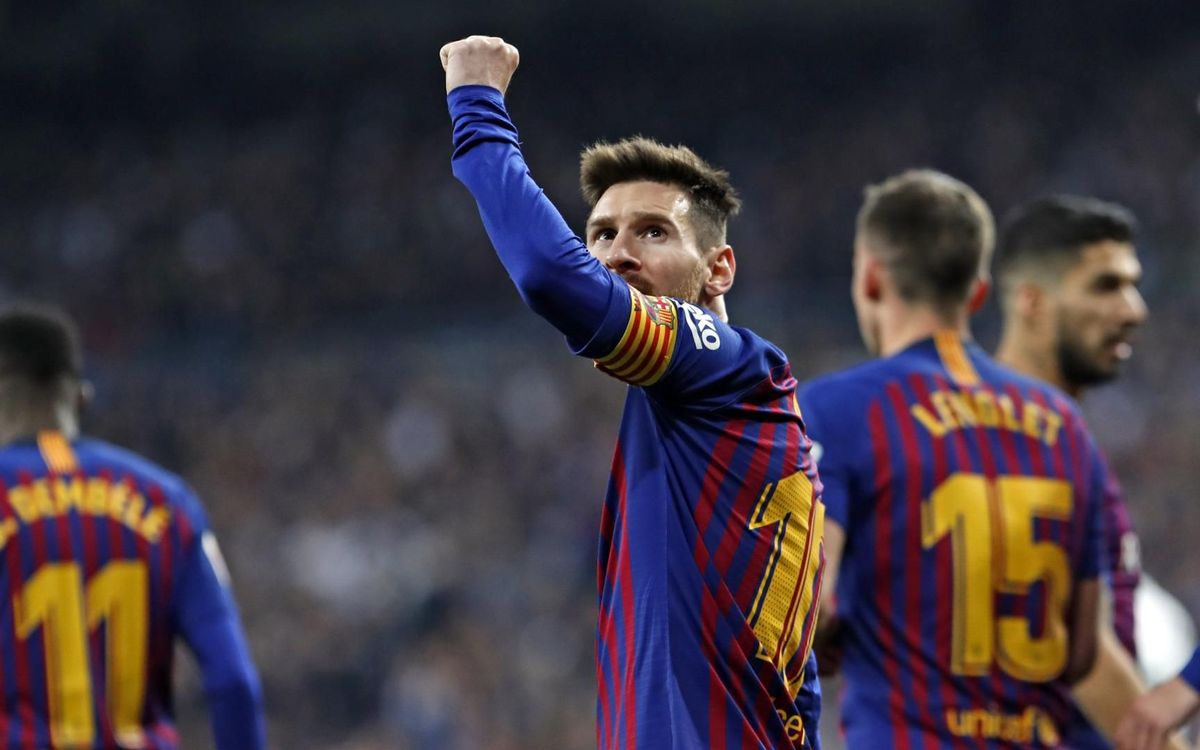 12 victorias de Messi en el Bernabéu