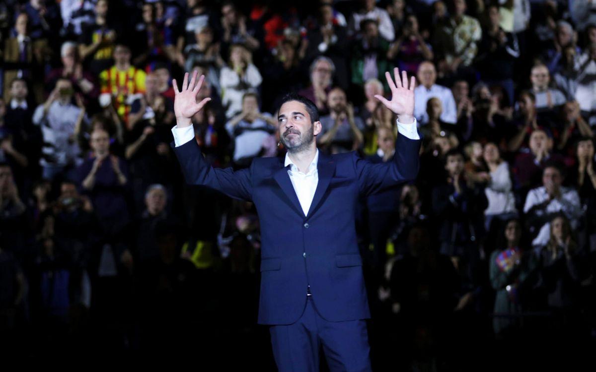 L''11' de Navarro ja penja del Palau Blaugrana