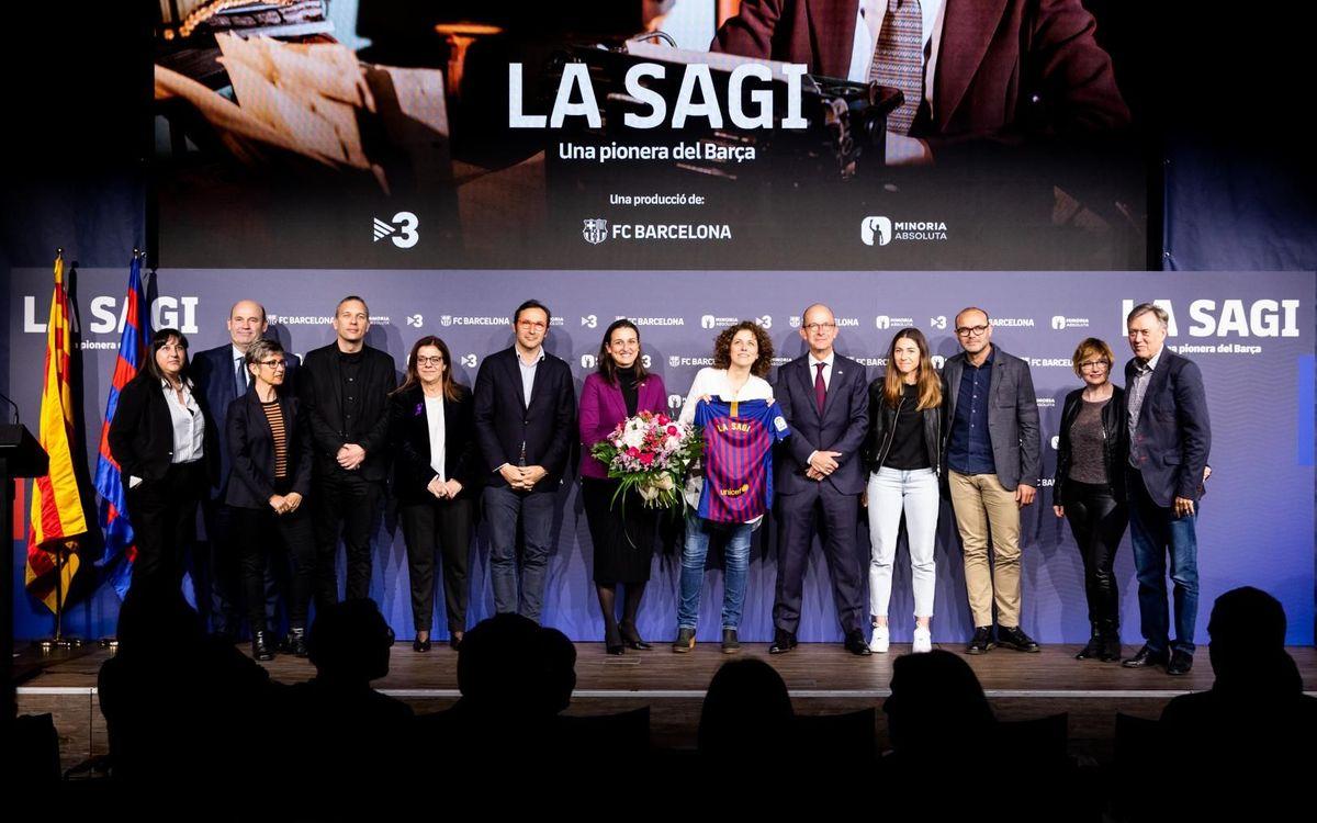 El Auditori 1899 acoge la première de 'La Sagi, una pionera del Barça'