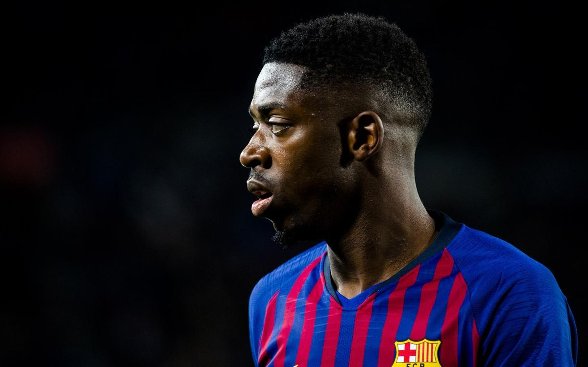 Dembélé with slight hamstring strain