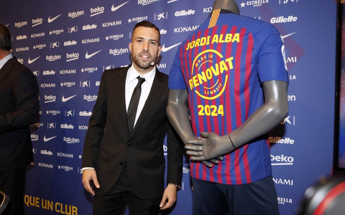 Jordi Alba: 'Continuing at this Club was always my aim'