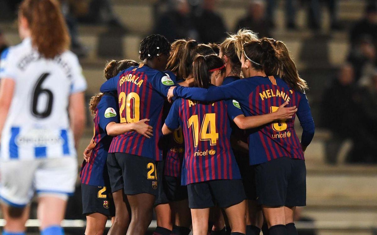 FC Barcelona – Reial Societat: Victòria per afrontar el tram decisiu (4-1)