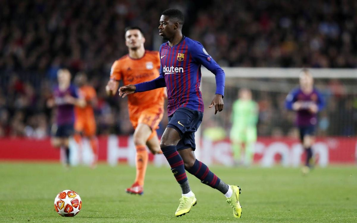 Dembélé out for 3 to 4 weeks