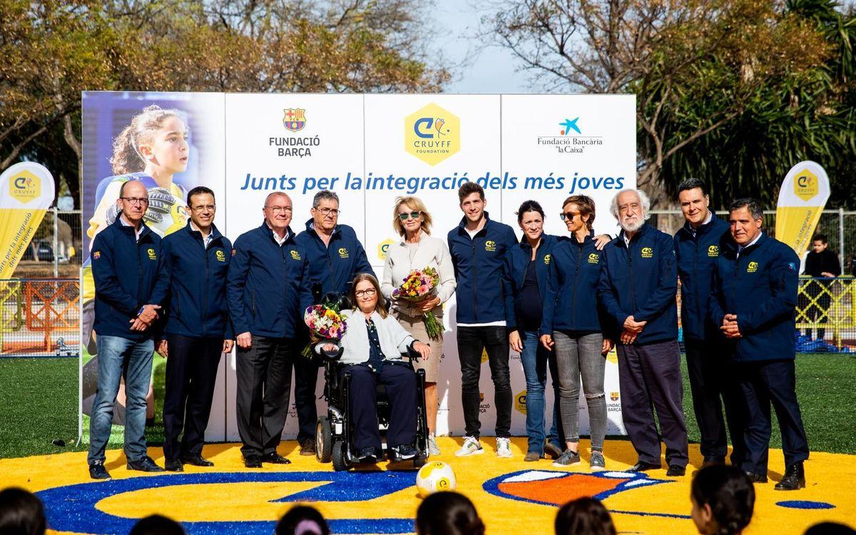 Inauguració Cruyff Court a Reus amb Sergi Roberto