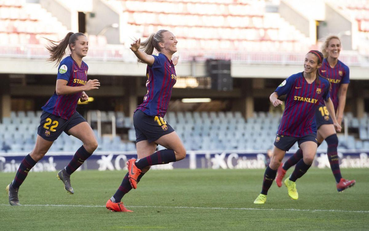 Barça Femenino - Valencia CF: Culminan una semana brillante (3-0)