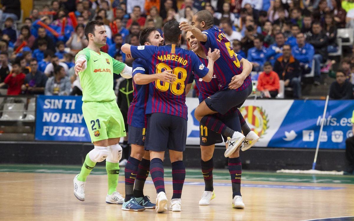 Industrias Santa Coloma 2-3 Barça Lassa: Back on top