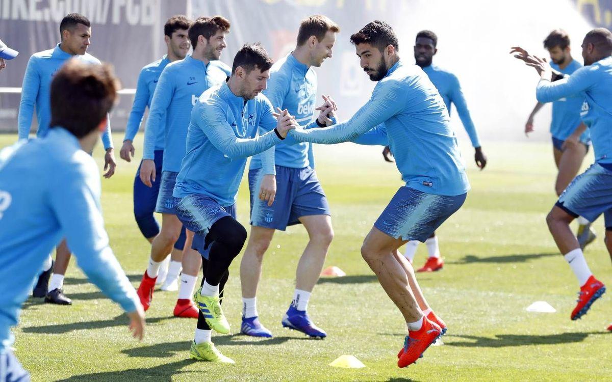 Le groupe du Barça convoqué pour le derby