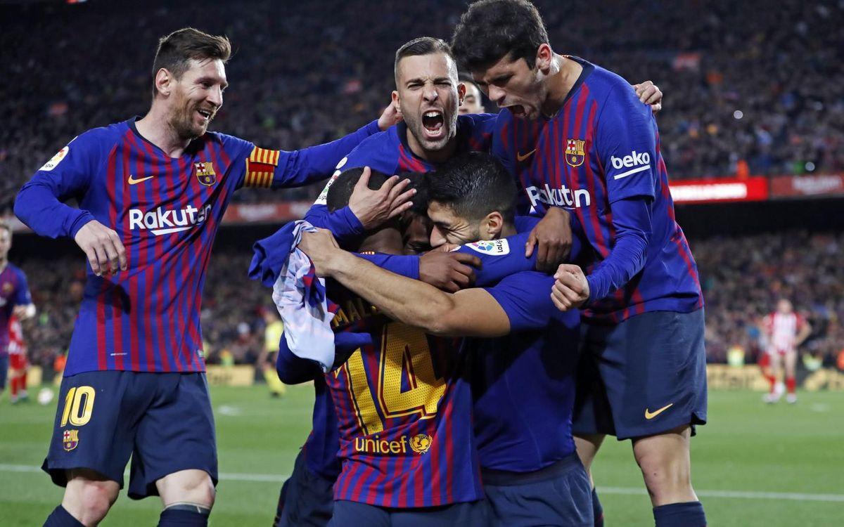 Victòria de campionat (2-0)