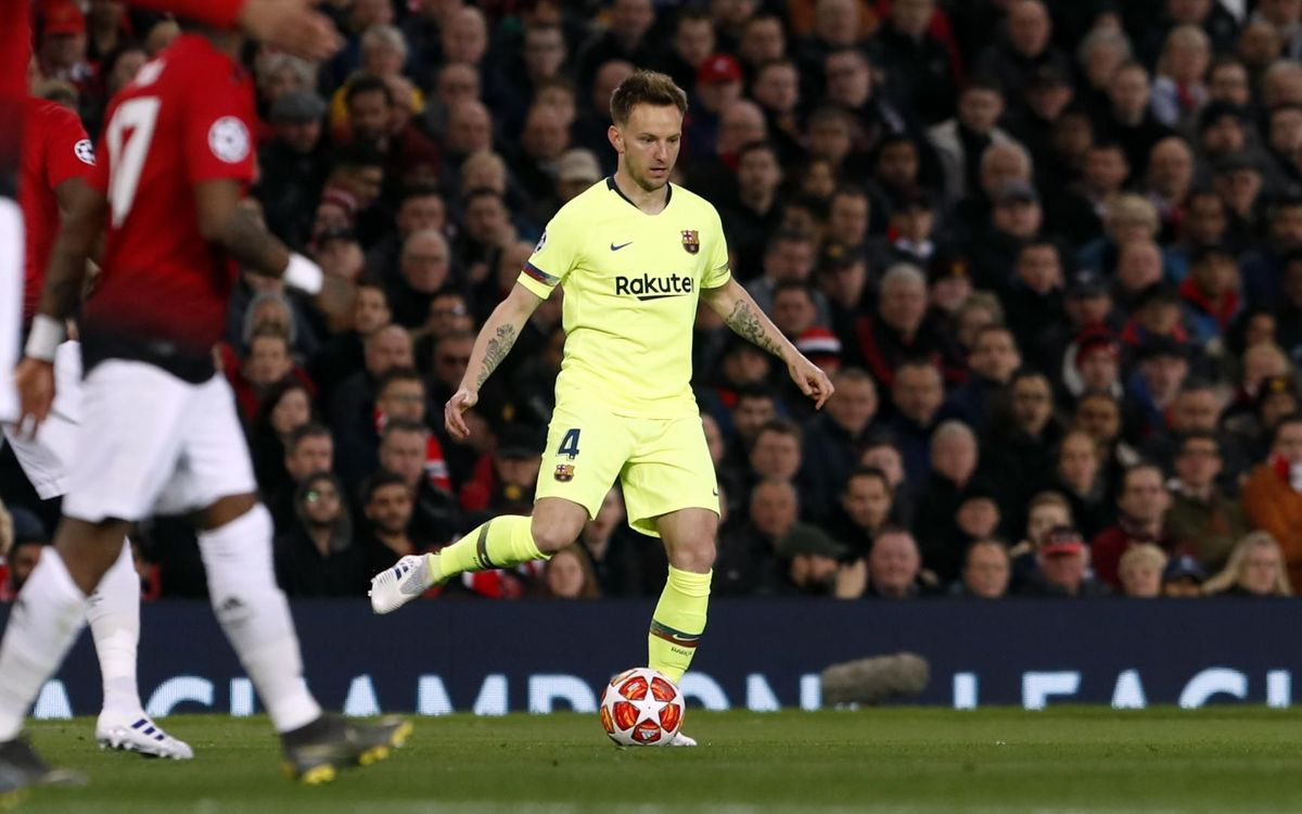 Rakitic, 50 matches in the Champions League for Barça