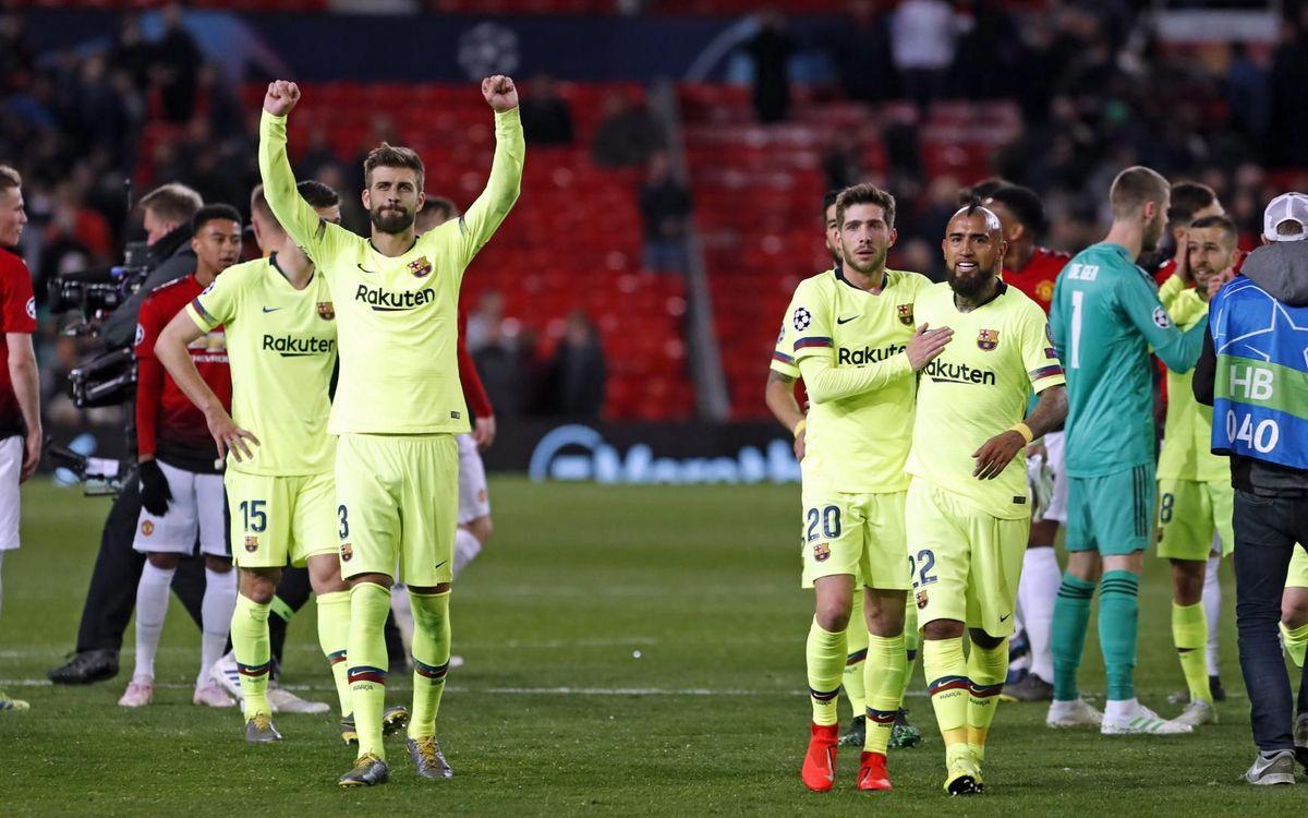 Sir Piqué vuelve por la puerta grande a Old Trafford