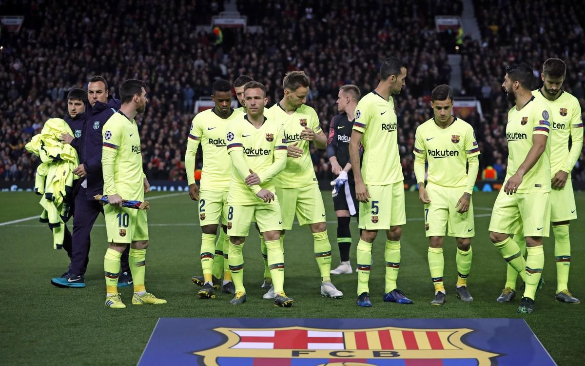 Alineación de Valverde ante el United (Foto: FCB).