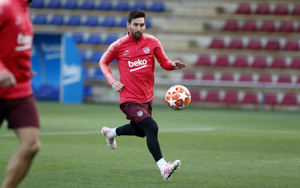 Leo Messi in training (15-04-19)