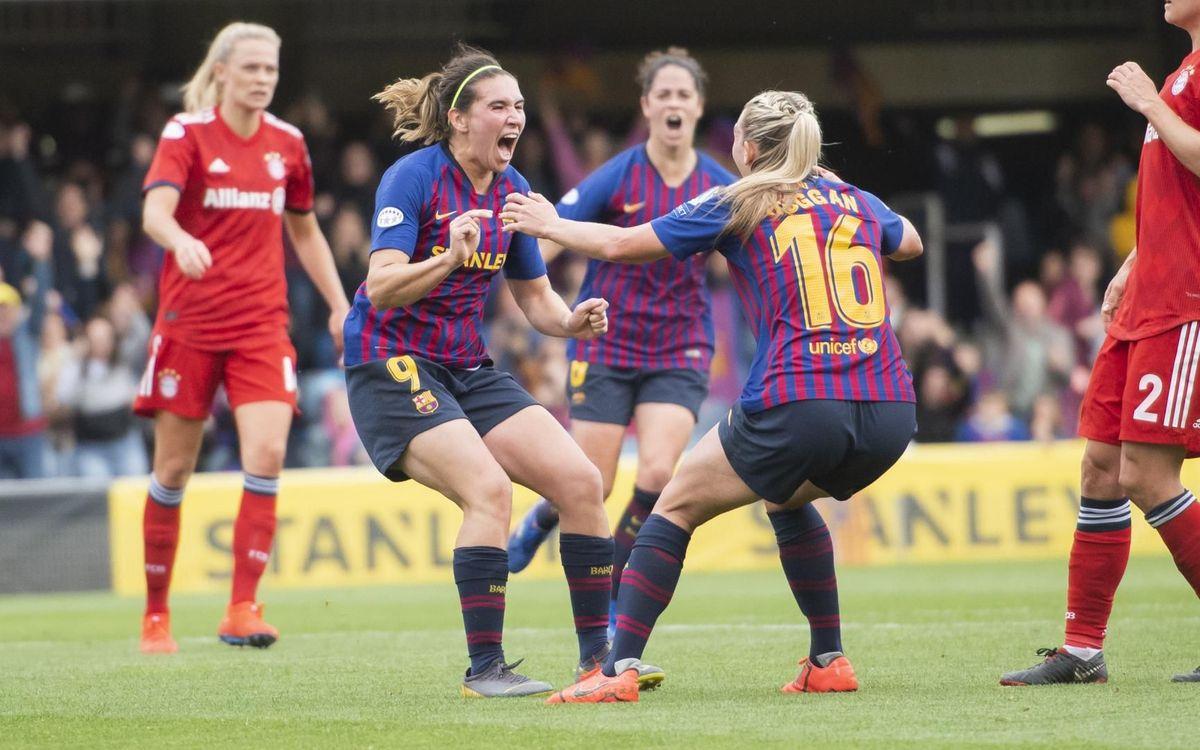 Barça Femení – Bayern de Munic: Una victòria històrica (1-0)