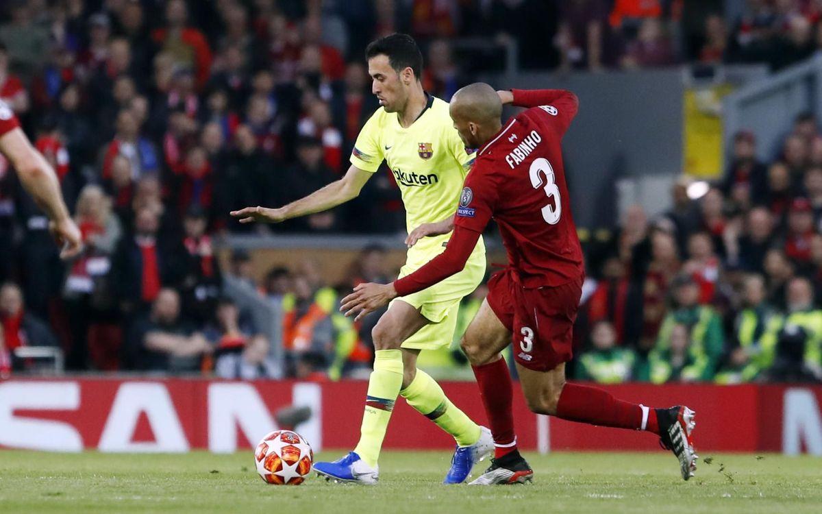 Liverpool - Barça: Adiós a Europa (4-0)
