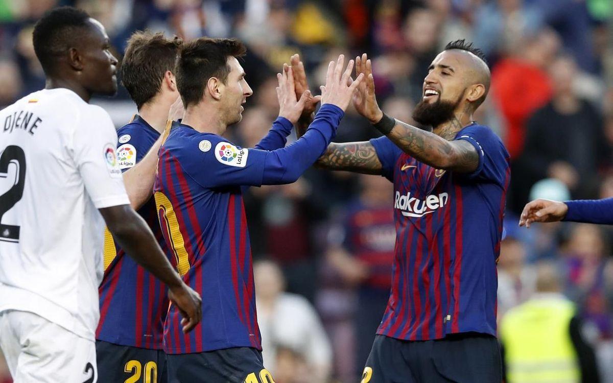 Barça – Getafe: El campeón sigue sumando (2-0)
