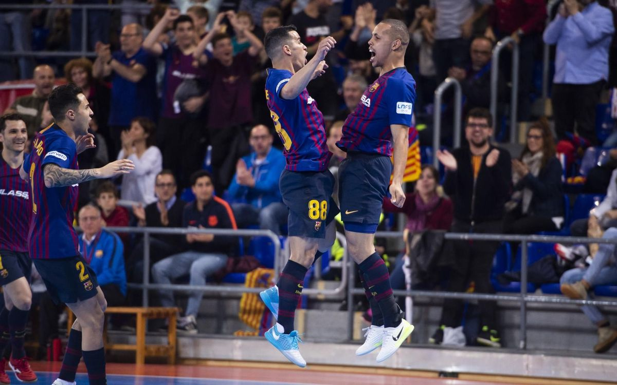 Barça Lassa – Palma Futsal: Valuable victory (2-2; 3-2)