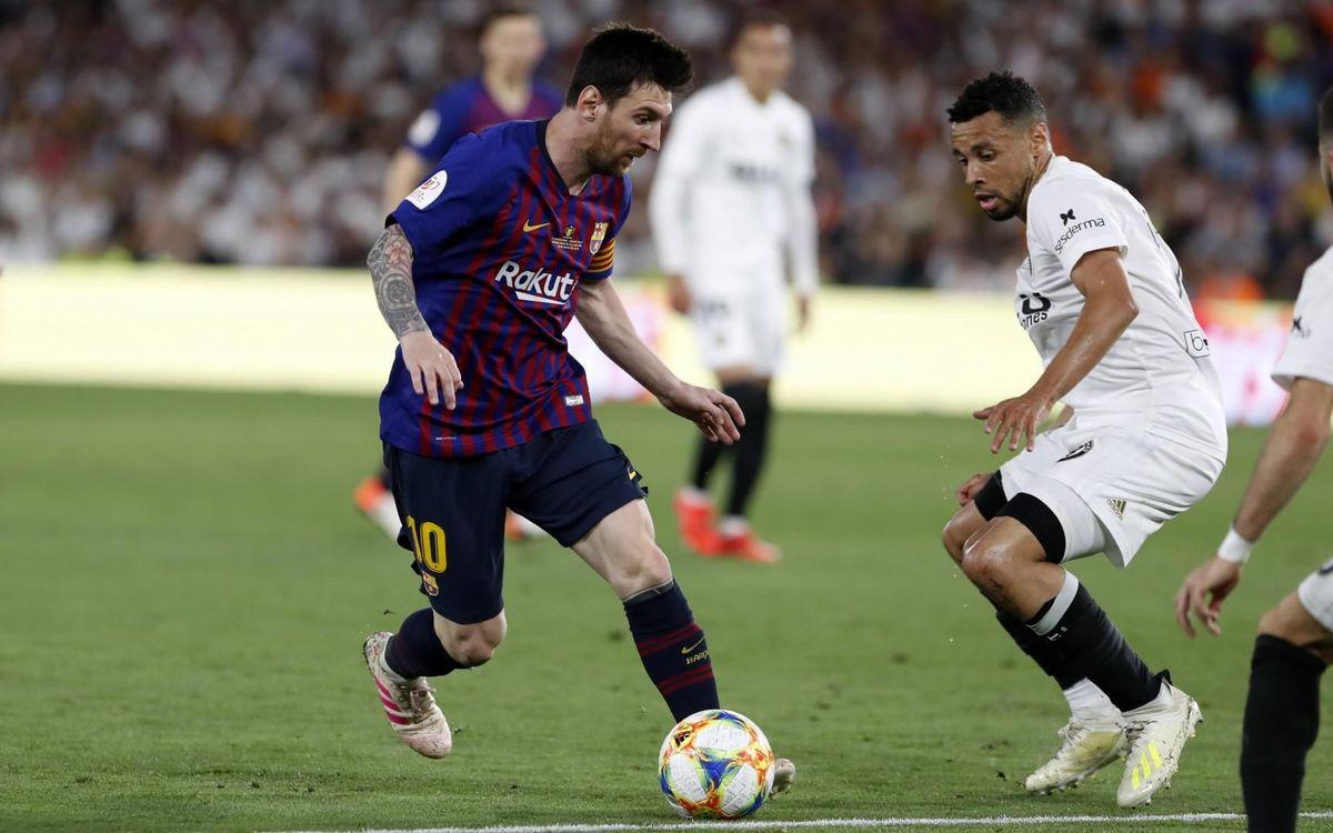 Leo Messi, golejador en sis finals de Copa