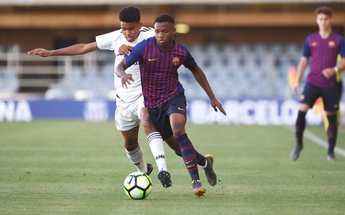 Juvenil A - Real Madrid: Superados por la efectividad blanca (0-2)