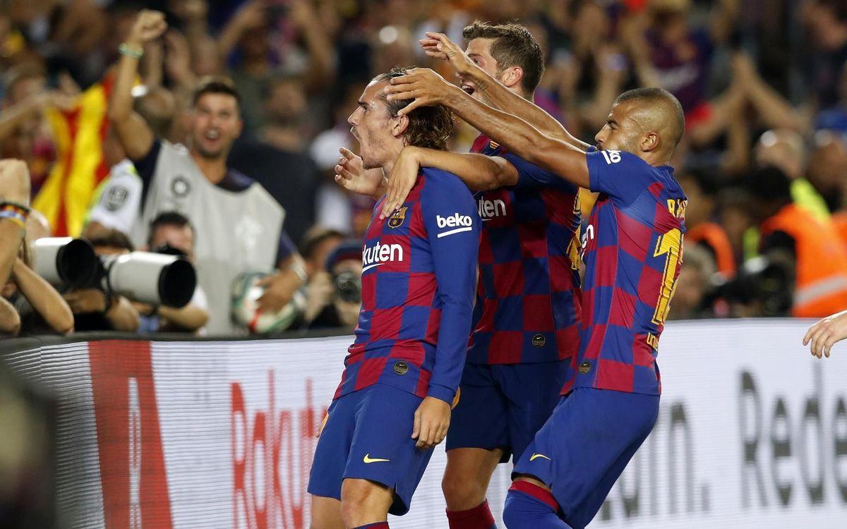 Griezmann et le Camp Nou, l'histoire commence bien