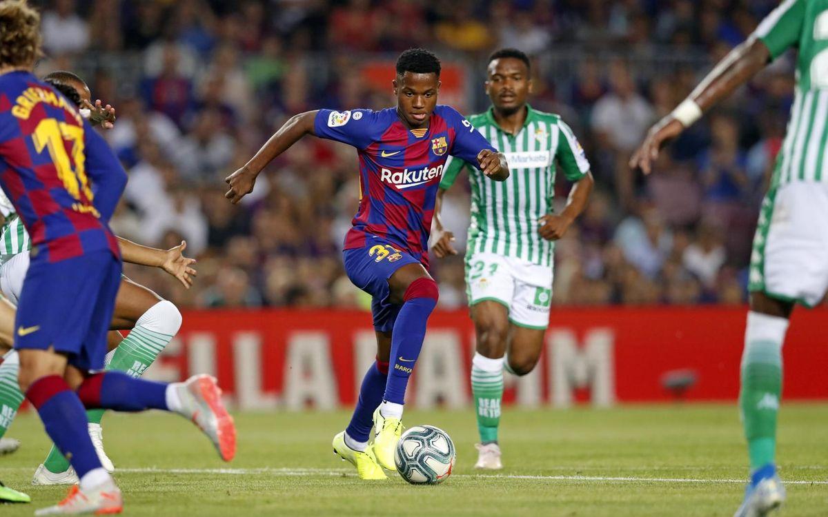 Ansu Fati debuta con el primer equipo