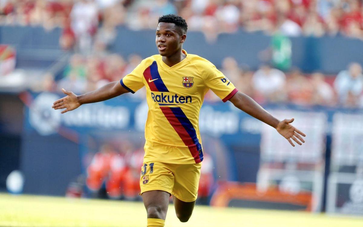 Ansu Fati, el jugador més jove en marcar amb el Barça a la Lliga
